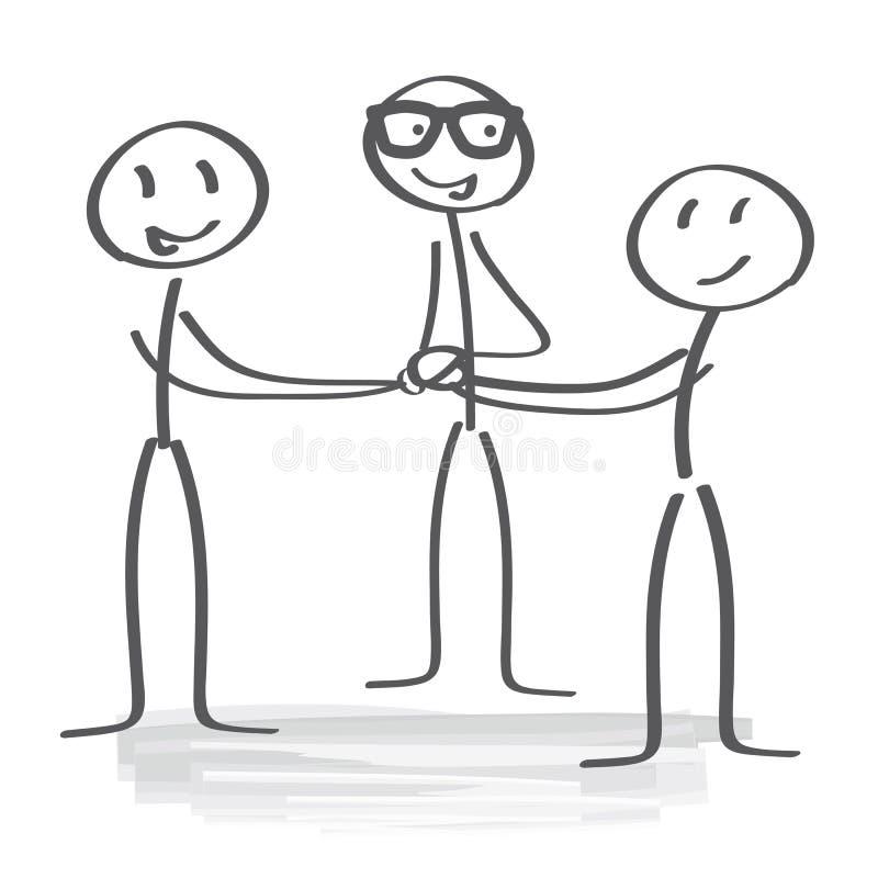 Espírito de equipe - motivação ilustração royalty free