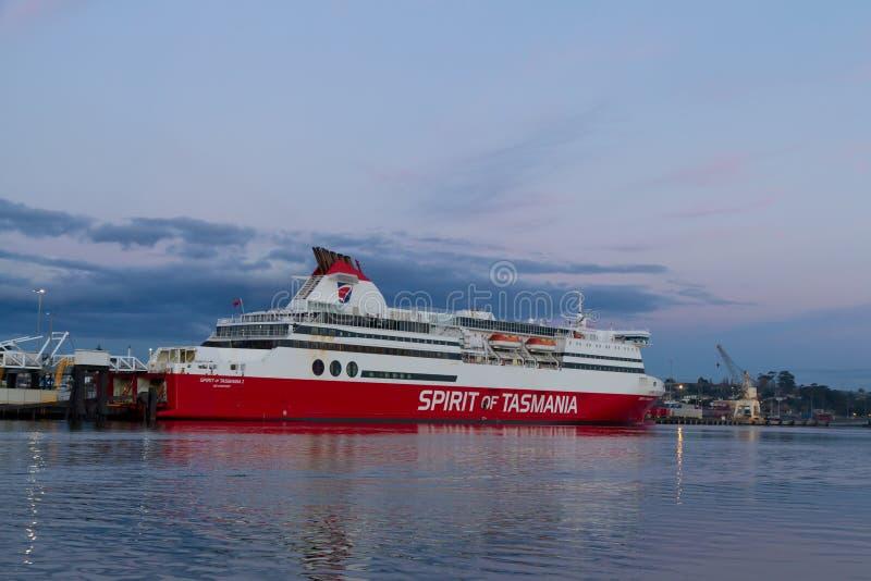Espírito de Tasmânia mim Devonport entrado ferryboat imagens de stock royalty free