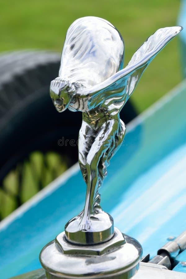 Espírito do emblema da êxtase em rolls royce imagens de stock royalty free