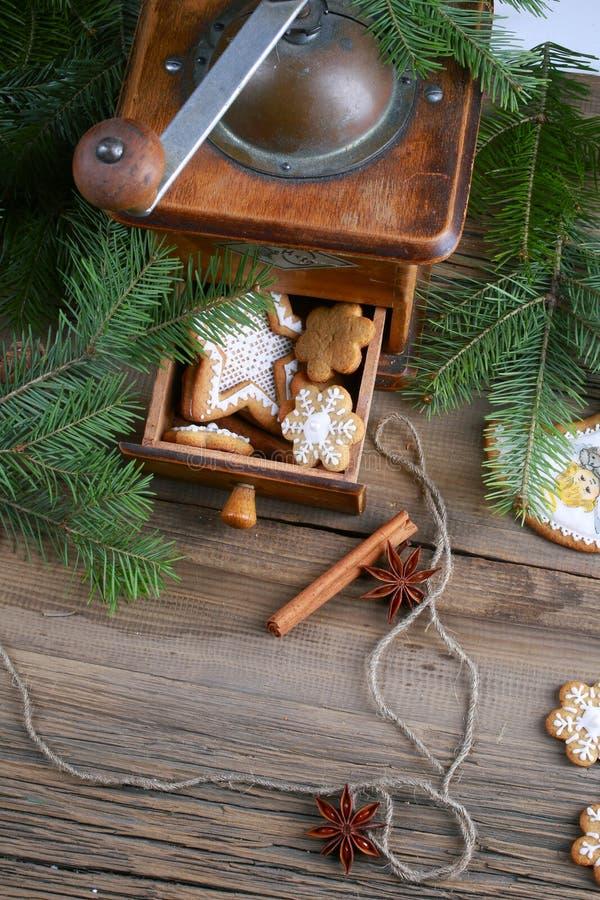 Espírito do Natal? com Santa e Noel fotografia de stock