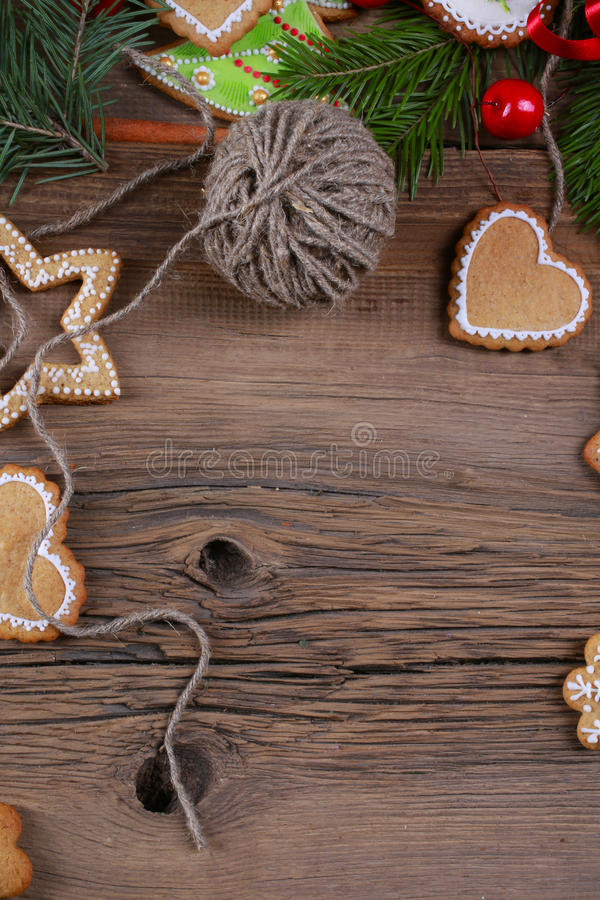 Espírito do Natal? com Santa e Noel imagens de stock royalty free
