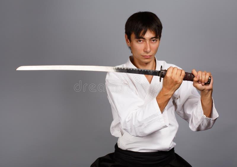 Espírito do samurai foto de stock