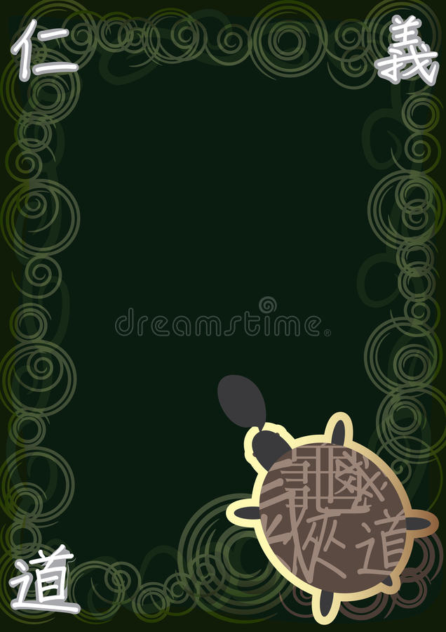 Espírito Space_eps da tartaruga de Abstarct ilustração royalty free