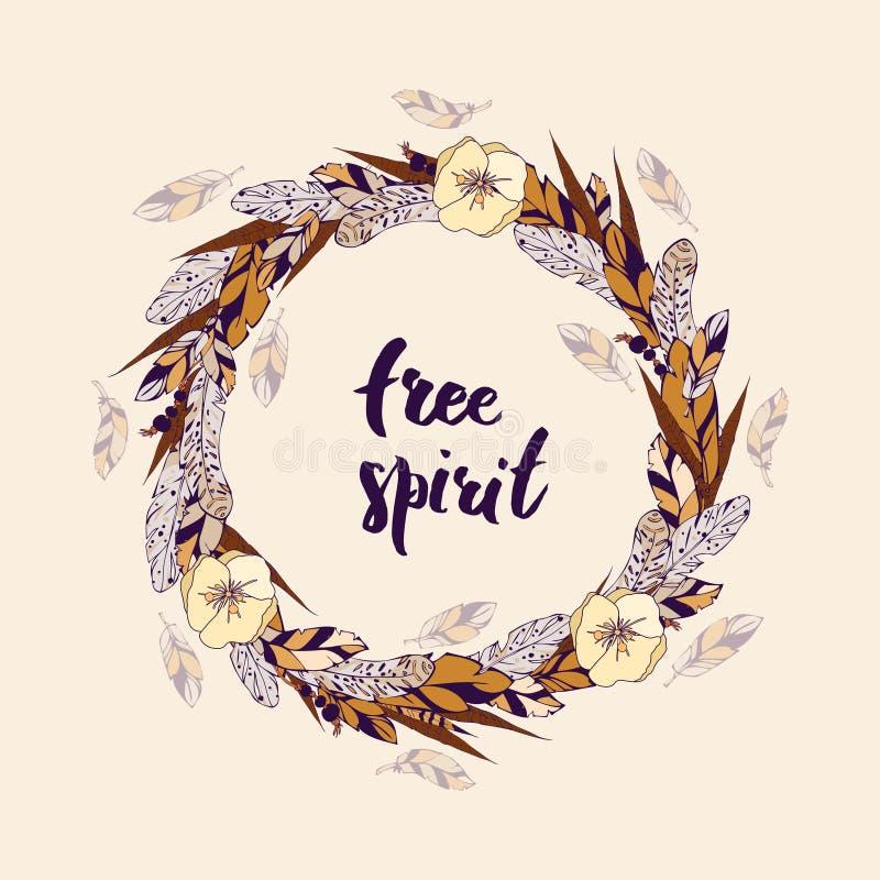 Espíritu libre stock de ilustración