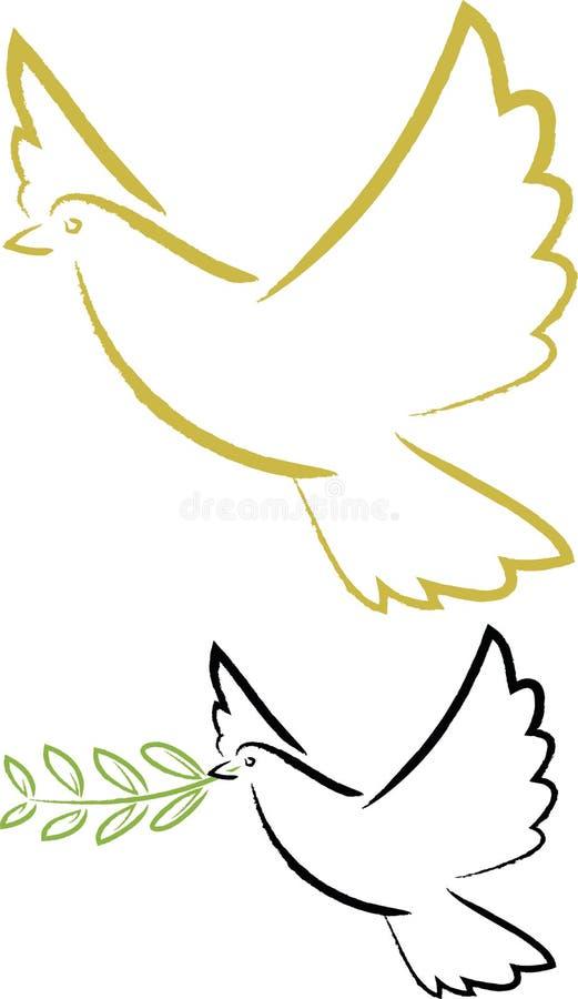 Espíritu Santo, paloma de la paz stock de ilustración