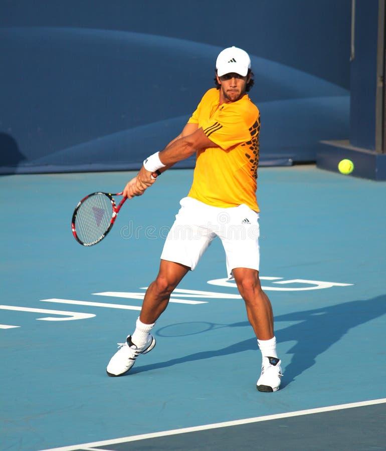 esp verdasco тенниса игрока fernando стоковое фото