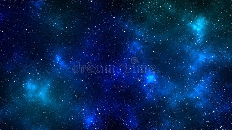 Espaço abstrato Fundo colorido do espaço Nebulosa bonita Protagonizar no papel de parede do espaço ilustração stock