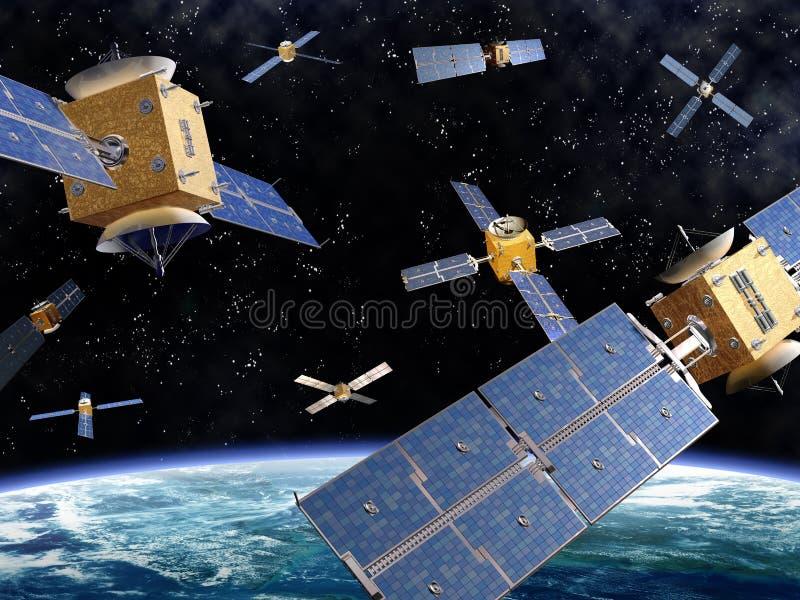 Espaço aglomerado ilustração do vetor