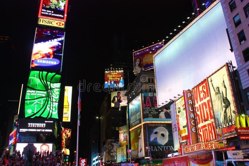 Espaço branco da cópia do Times Square de New York City foto de stock royalty free