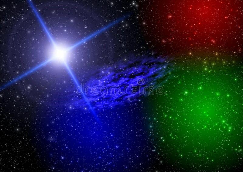 Espaço da abstracção. luz mystical ilustração do vetor