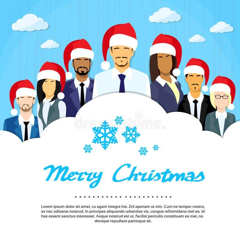 Espaço da cópia da nuvem do grupo dos homens de negócios, negócio ilustração stock