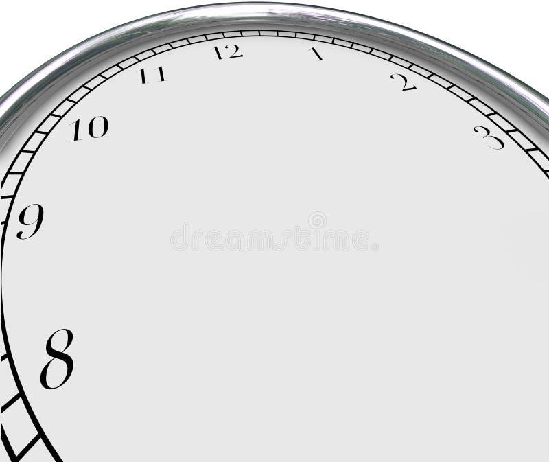 Espaço da cópia da placa do conceito do tempo do fundo do pulso de disparo sua mensagem ilustração royalty free