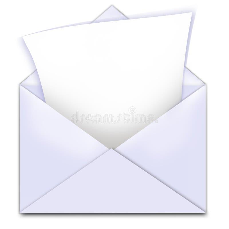 Espaço da cópia de letra do envelope ilustração stock