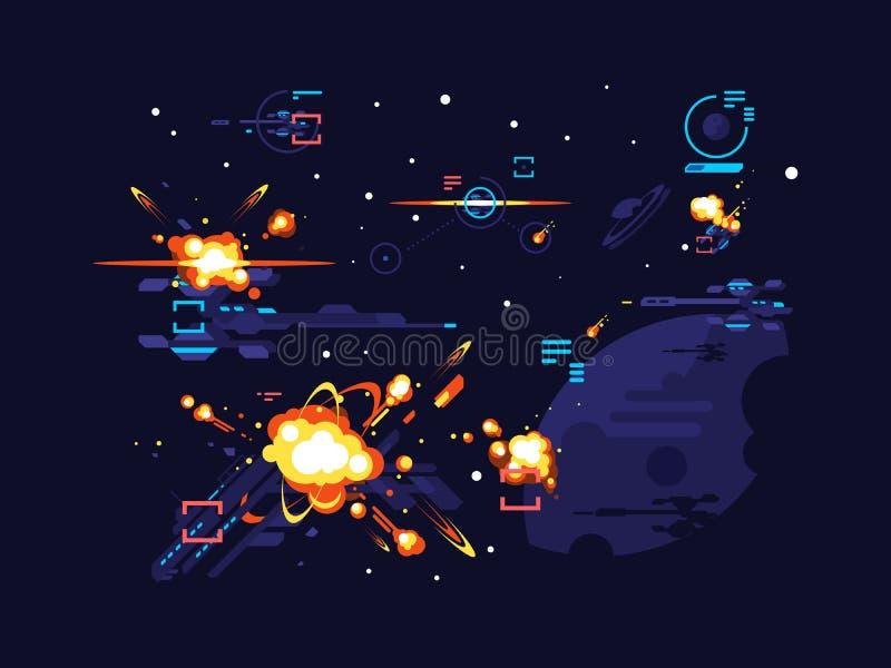 Espaço da estrela da batalha ilustração royalty free