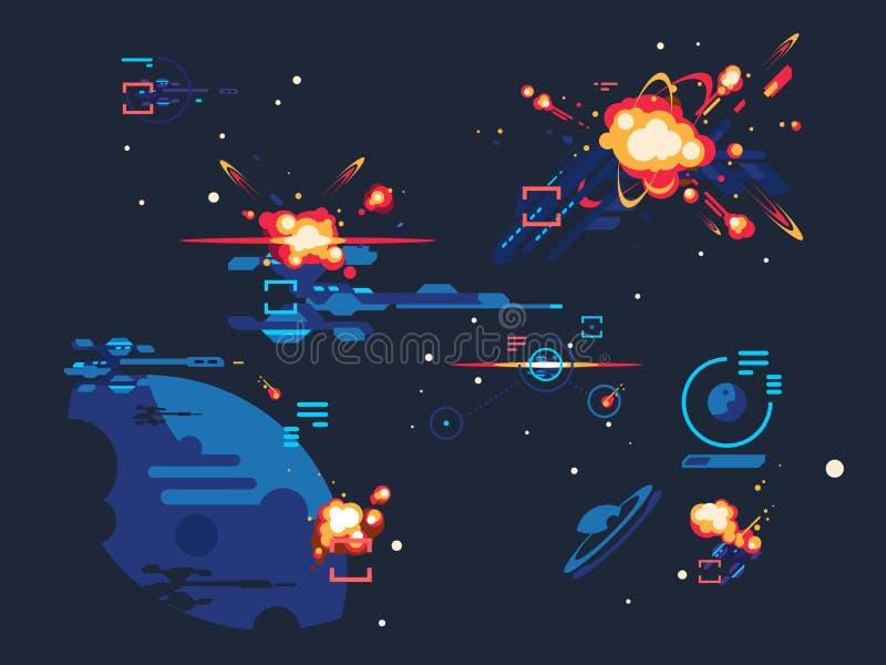 Espaço da estrela da batalha ilustração stock