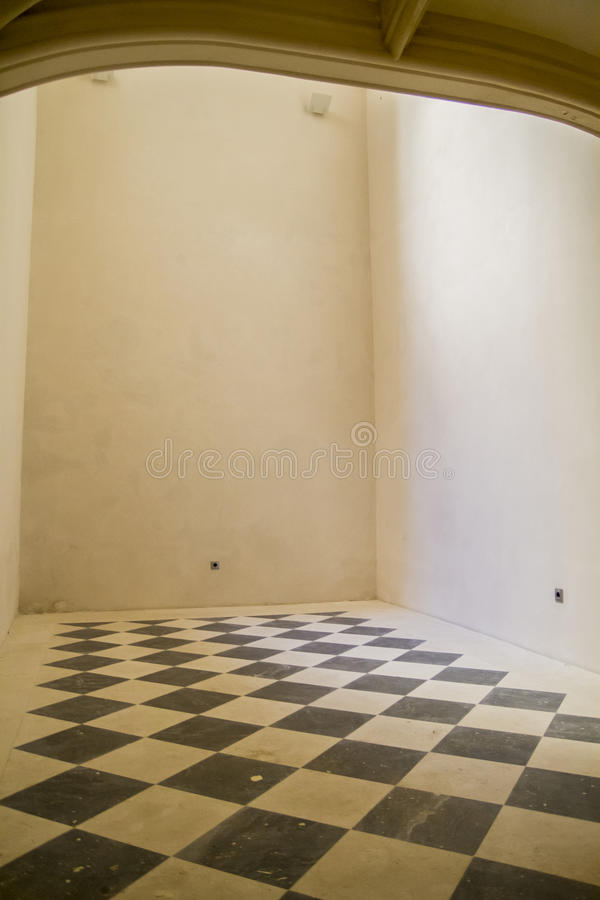 Espaço da sala da xadrez, o velho e o antigo fotos de stock royalty free