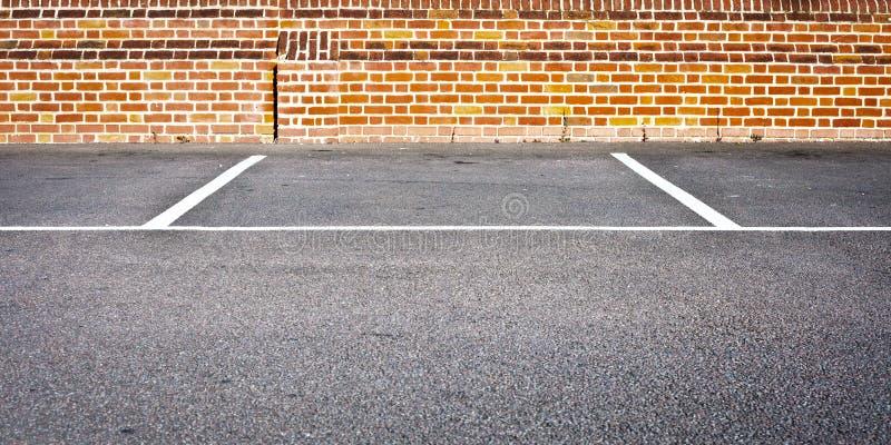 Espaço de estacionamento fotografia de stock