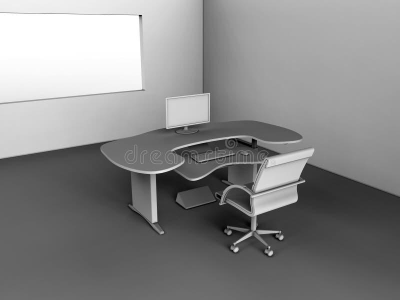 Espaço de trabalho do PC ilustração stock