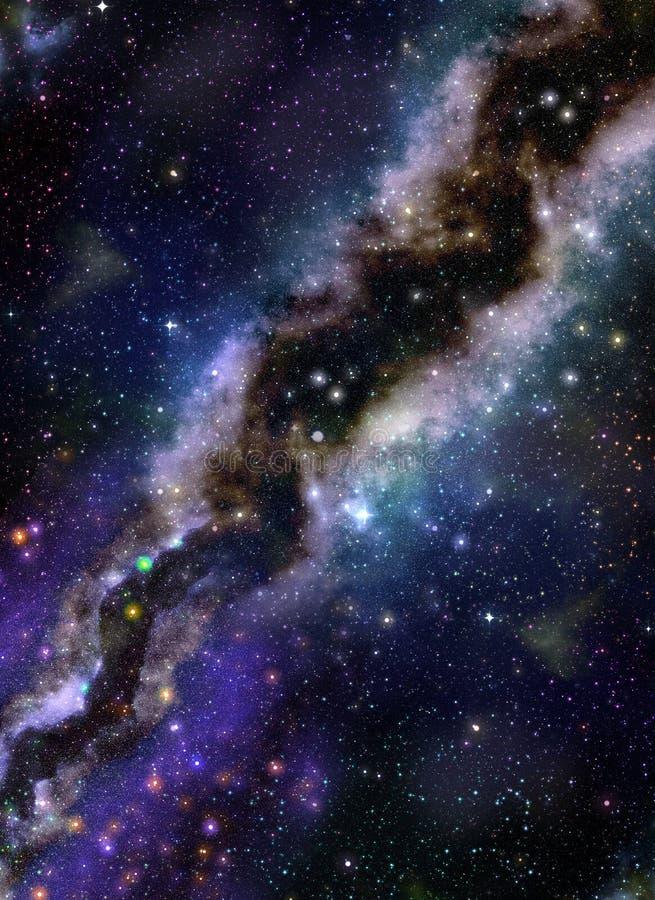 Espaço distante da galáxia ilustração stock