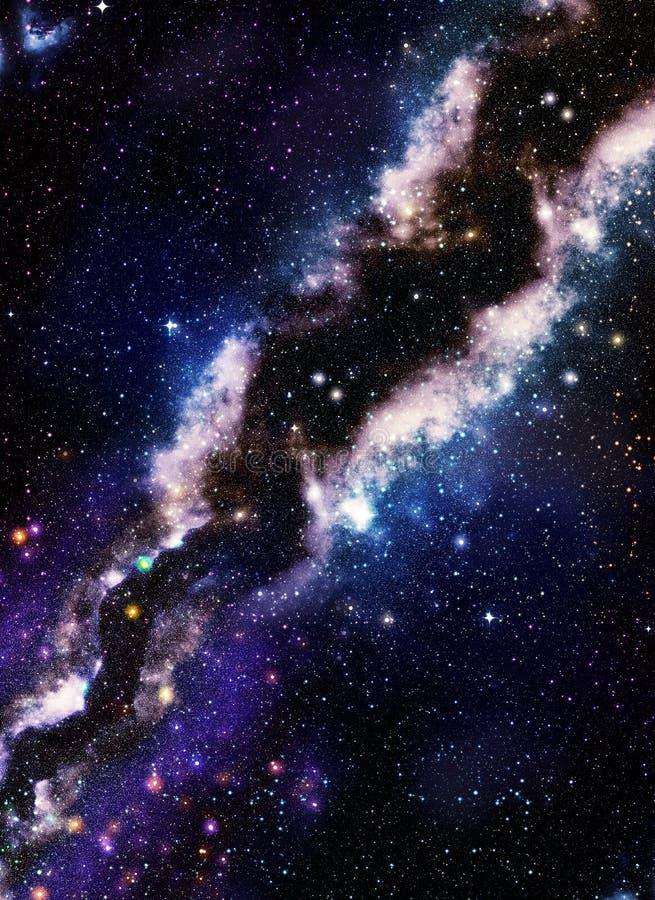 Espaço distante da galáxia ilustração royalty free