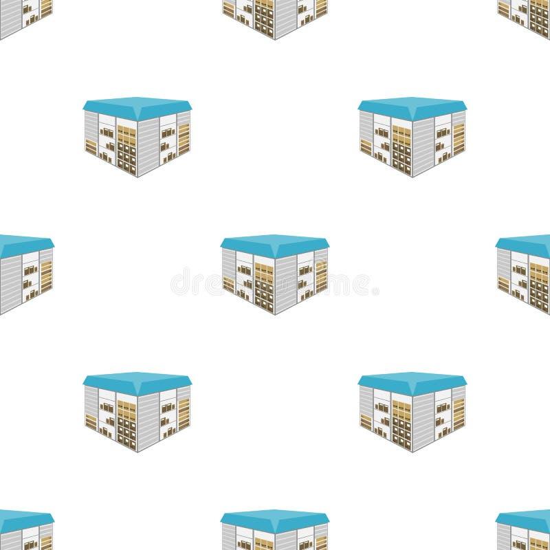 Espaço do armazém As logísticas e ícone da entrega o único nos desenhos animados denominam a Web isométrica da ilustração do esto ilustração do vetor