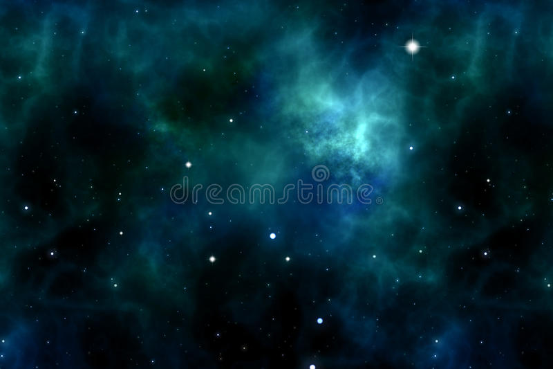 Espaço e estrelas ilustração royalty free