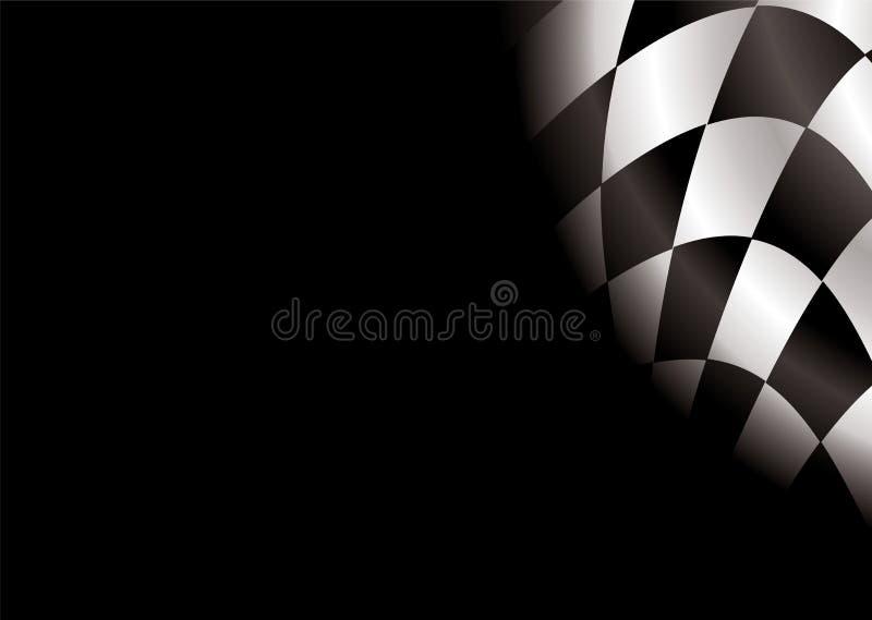 Espaço em branco Checkered ilustração stock