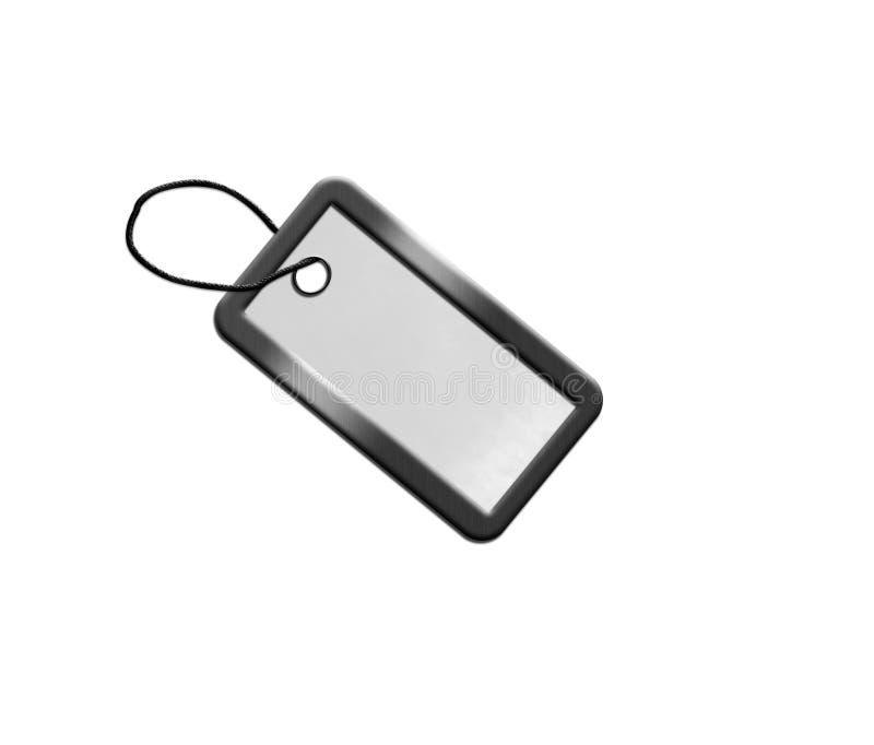 Espaço em branco da prata para a chave ilustração royalty free
