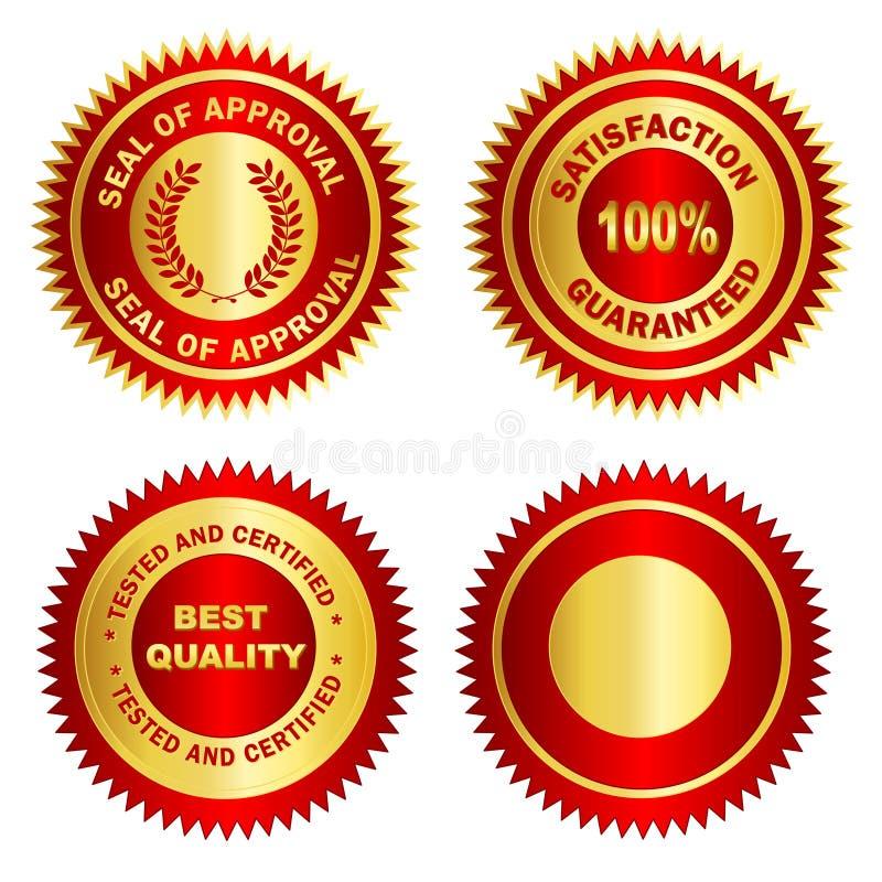 Espaço em branco de /Stamp /Medal do selo do ouro ilustração royalty free