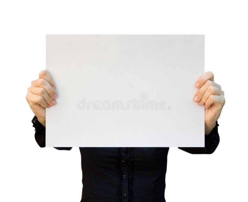 Espaço em branco do cartão fotos de stock