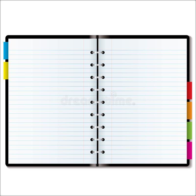 Espaço em branco do organizador ilustração stock