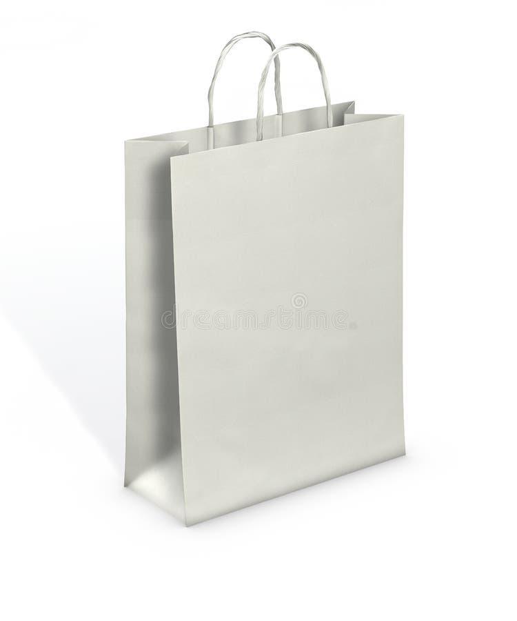 Espaço em branco do saco de papel fotografia de stock