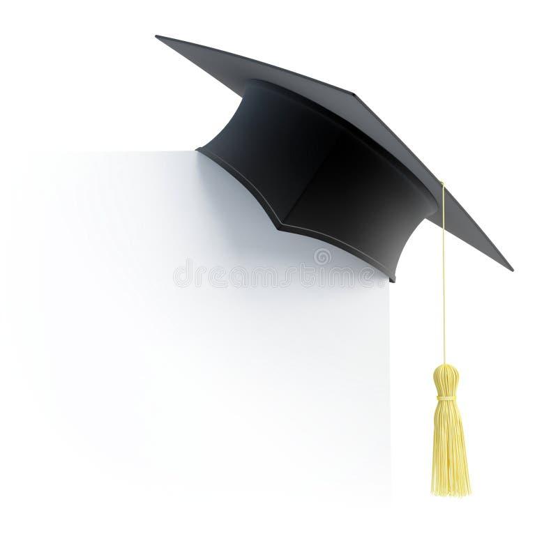 Espaço em branco do tampão da graduação ilustração royalty free