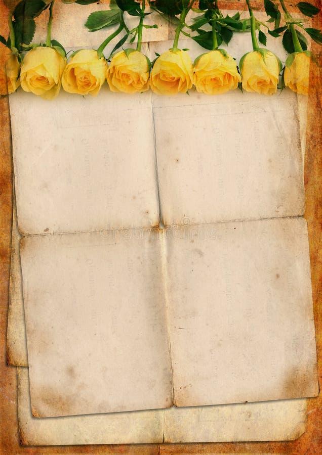 Espaço em branco para a letra romântica imagens de stock