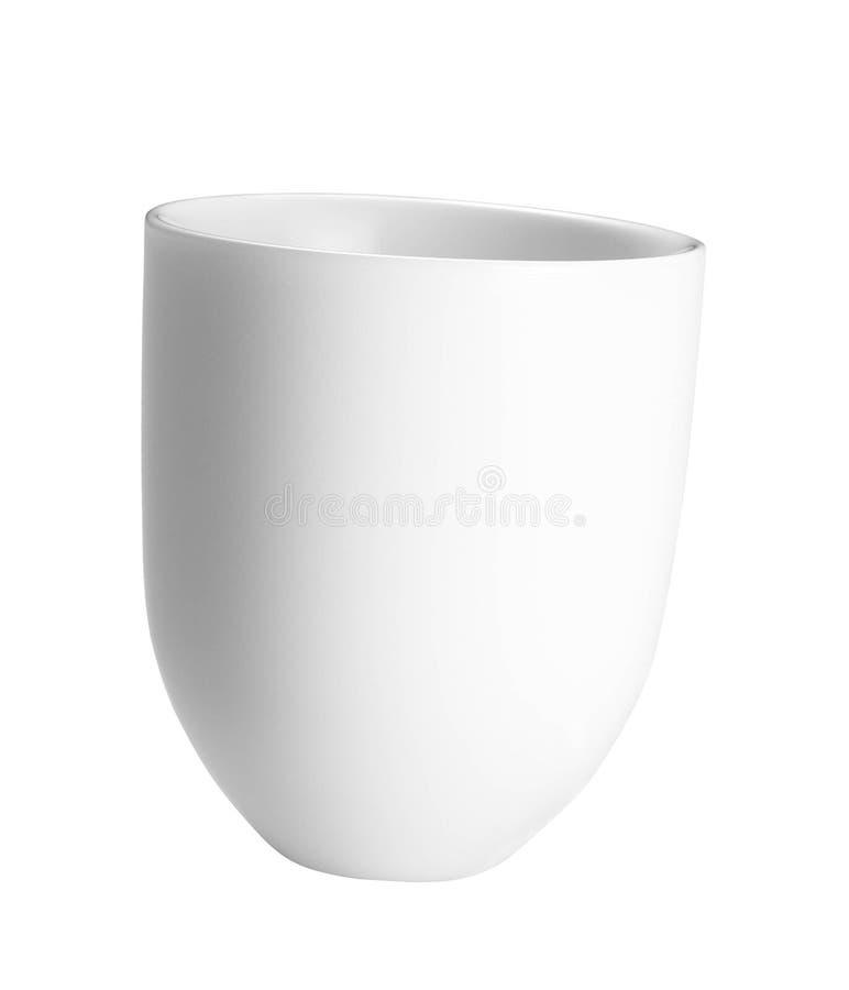 Espaço em branco vazio da caneca branca para o café imagem de stock