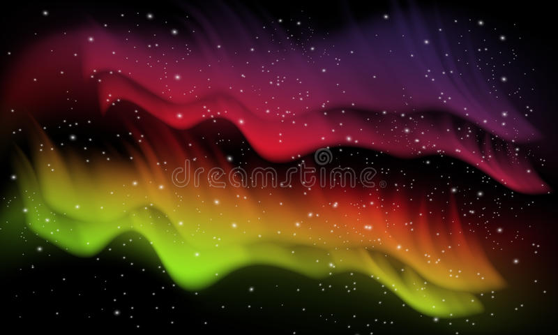 Espaço, fundo da Aurora ilustração royalty free