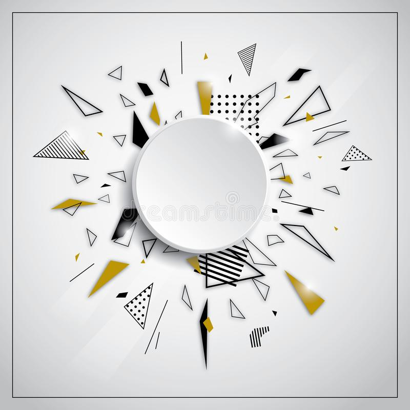 Espaço geométrico abstrato da cópia da bandeira do fundo ilustração stock