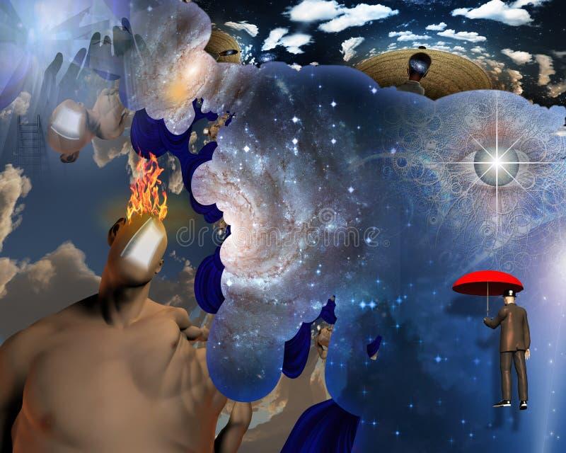Espaço interno ilustração royalty free