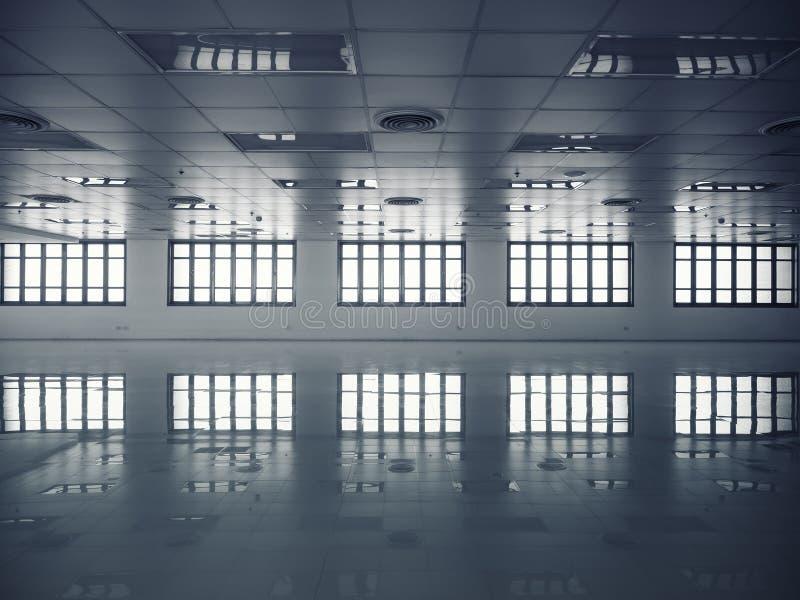 Espaço moderno do interior da construção do detalhe da arquitetura fotografia de stock
