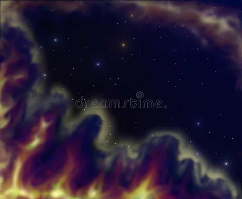 Espaço nebular ilustração stock
