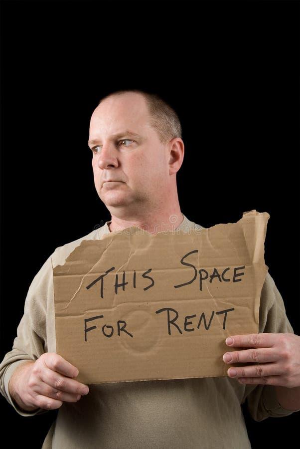 Espaço para o aluguel fotografia de stock
