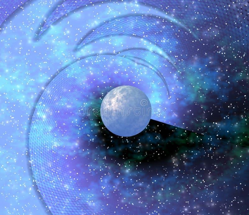 Espaço. Planeta azul ilustração royalty free