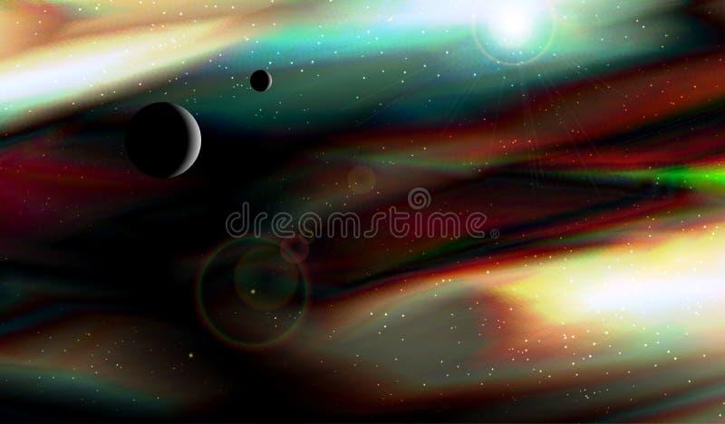Espaço profundo Planeta estrangeiro Imagem do Fractal ilustração royalty free