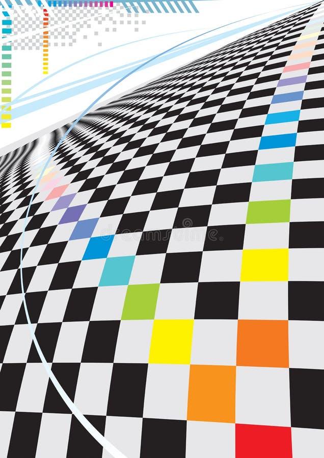 Espaço quadrado moderno ilustração do vetor