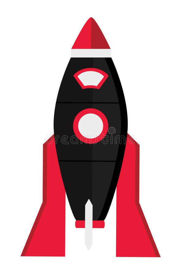 Espaço Rocket do vetor ilustração do vetor