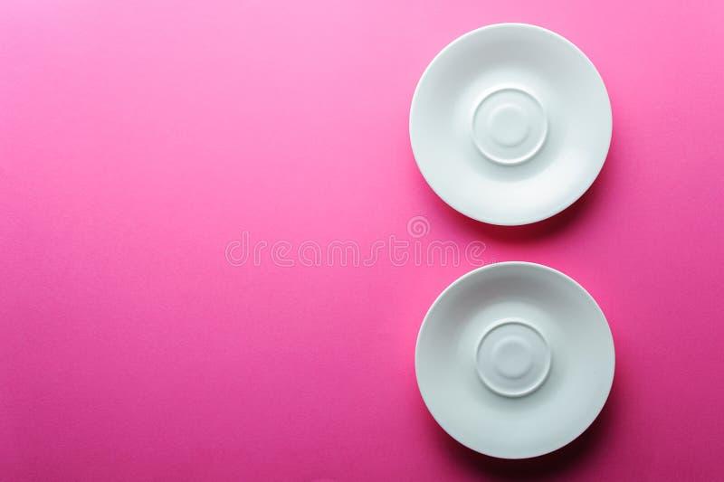 Espaço vazio branco de duas placas para a cópia imagem de stock