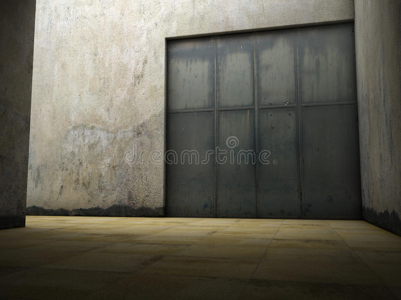 Espaço vazio do concreto sujo ilustração stock