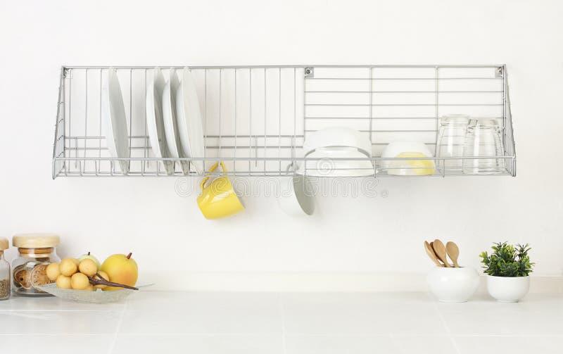Espaço vazio e em branco da cozinha fotos de stock