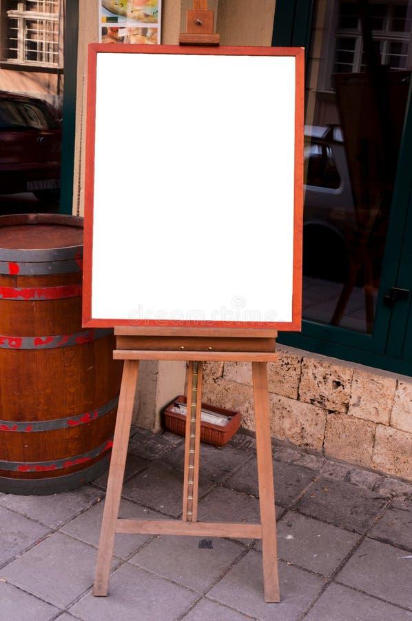 Placa do menu fotografia de stock royalty free