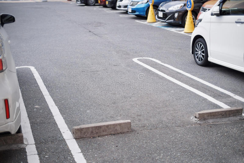 Espaço vazio no estacionamento fotografia de stock royalty free